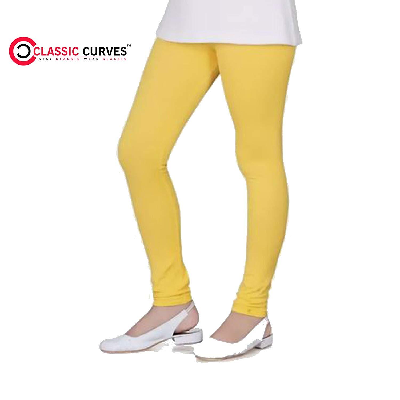 Pack of 2 /_Beige::Green Indistar Girls Super Soft Ankle Length Cotton Lycra Leggings