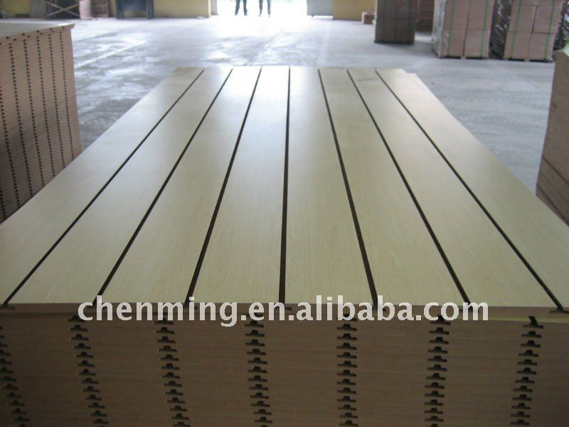 slat MDF dispaly shelves for mall