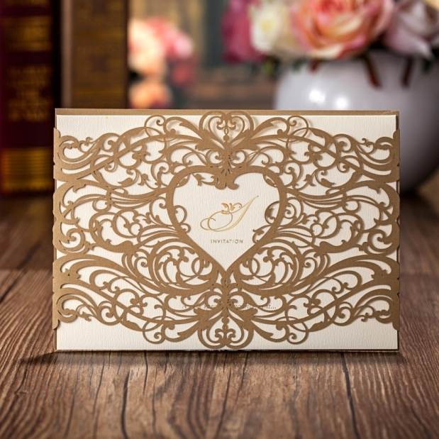 Whole Wedding Invitations Elegant Laser Cut Paper Card Cw5018