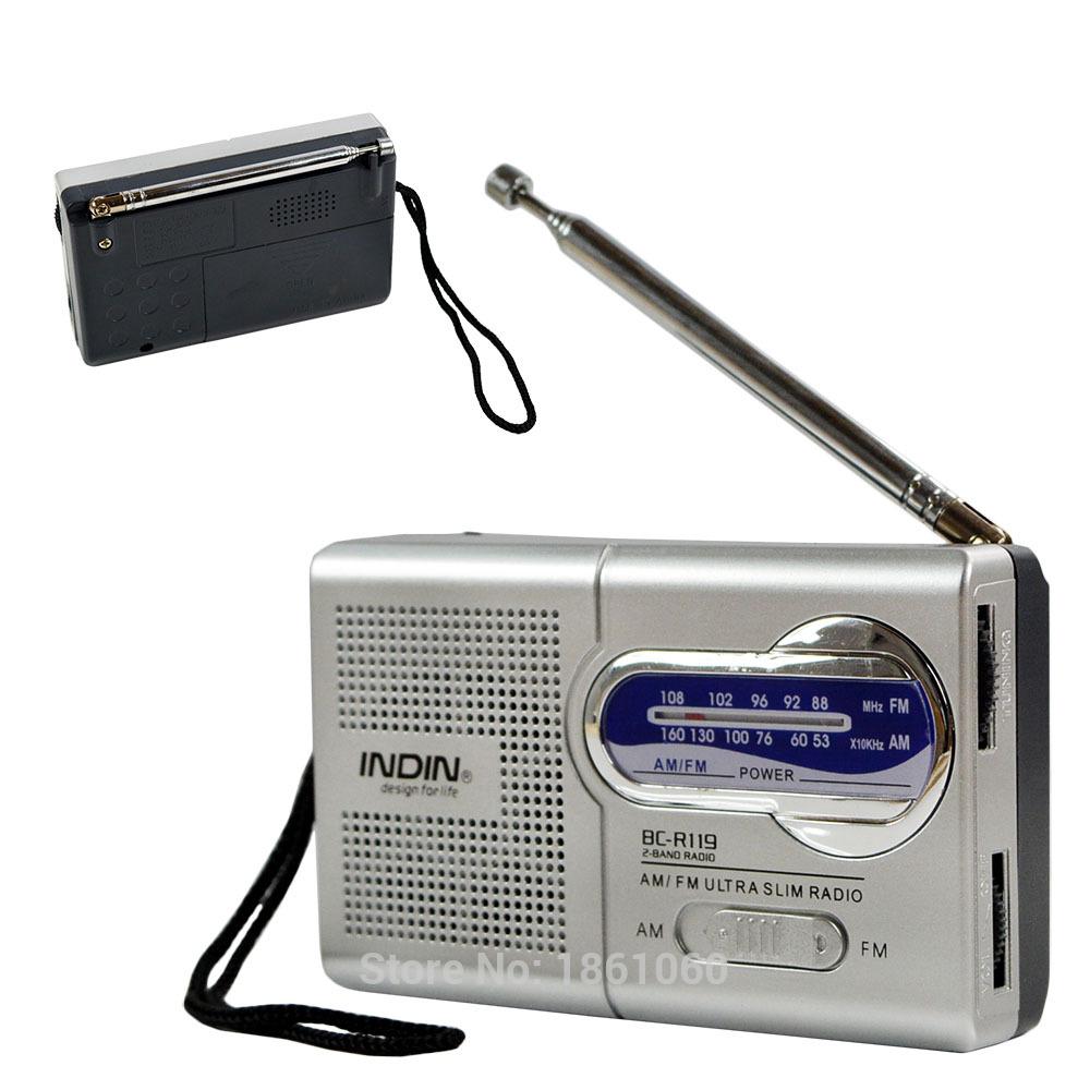 Good Quality Built in Speaker AM/FM Radio Receiver, Silver