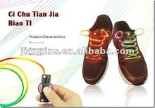 Water-proofed, Ultra-Bright LED Blinking, Optical Fiber Shoe Laces From JIAN