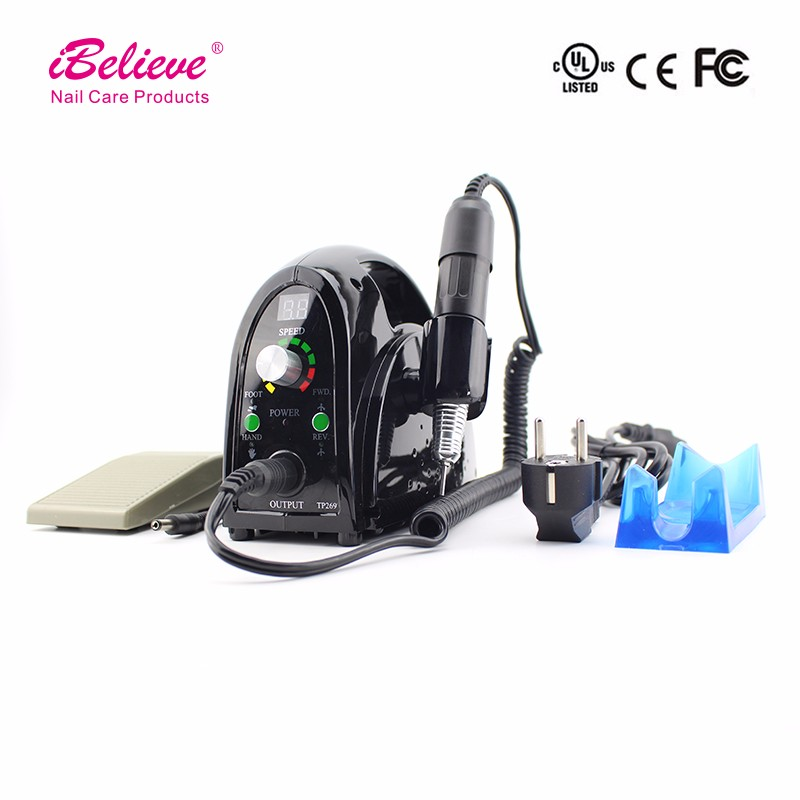 iBelieve Electric nail file device manicure nail drill machine with vacuum