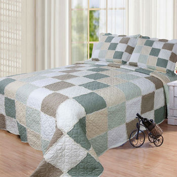 Patchwork Brand Name Bed Sheets Yf 012green