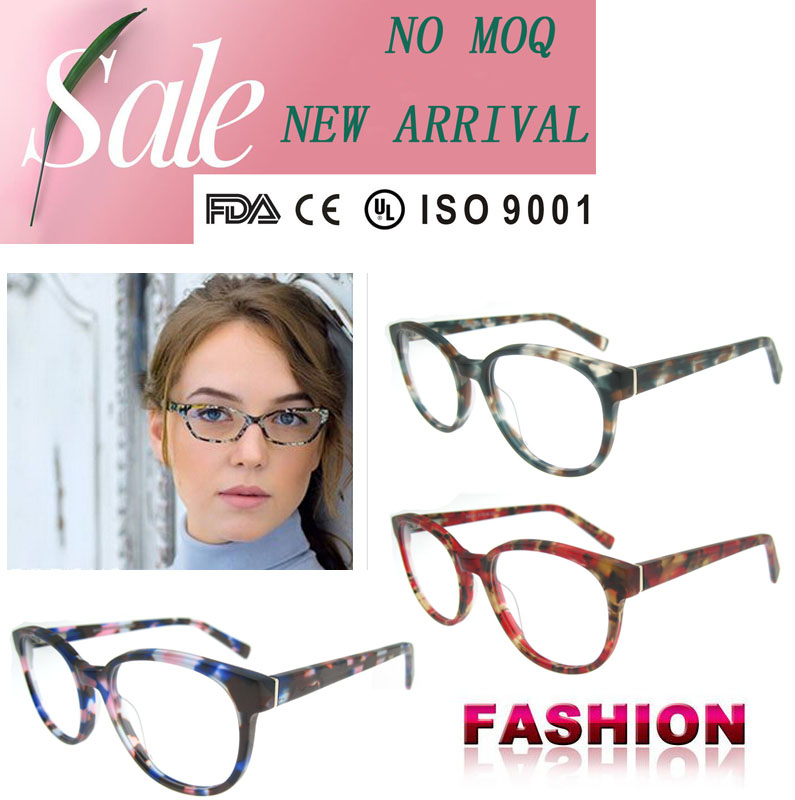 Acetate eyeglasses spectacle frames stylish glasses frame reading glass frames with ce and fda certification