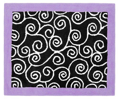 Purple and Black Kaylee Accent Floor Rug by Sweet Jojo Designs