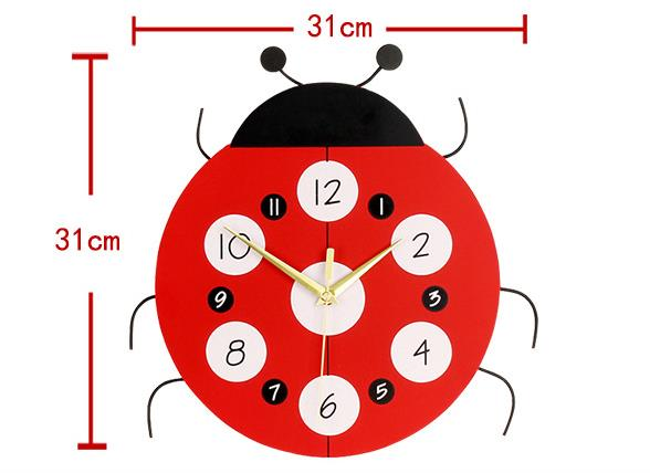 Wholesale Stock Small Order Creative Cartoon Kids Room Decorative Resin Wall Clock
