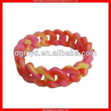 2012 hot sale and fashionable new bracelets silicone as gift item with scents and metal pendants