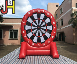 Customized Red Inflatable Dart Board, Wholesale Inflatable Foot Dart