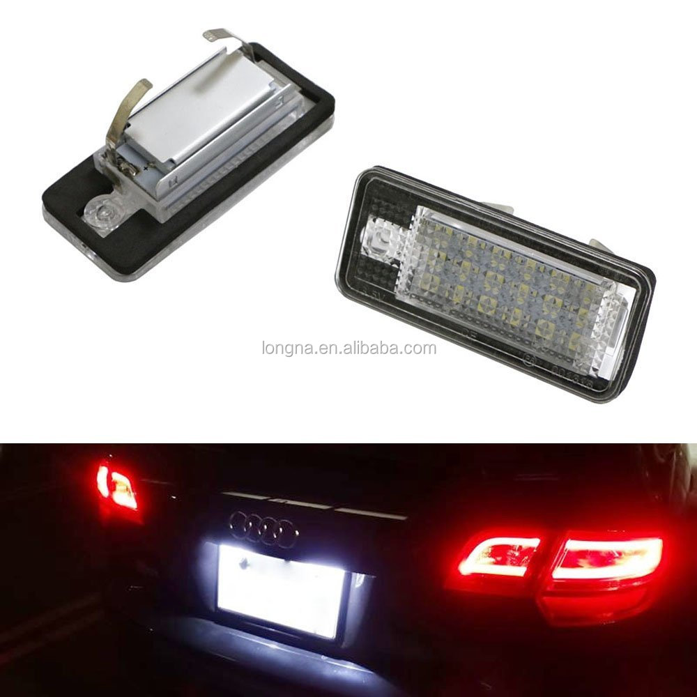 Replacement Xenon White LED License Plate Light Assemblies For Audi A3 S3 A4 S4 A5 S5 A6 S6 A8 S8 Q7 LED License Plate Light