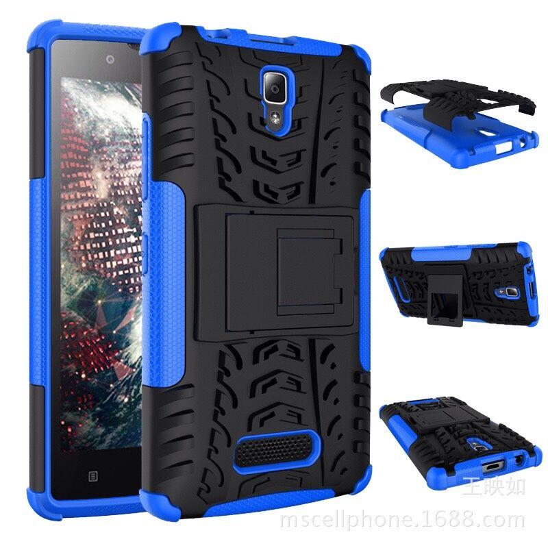 pretty nice cc8f5 55b96 Lenovo A2010 Case Hybrid TPU + PC Protective Case Back Cover With Stander  For Lenovo A2010 Smartphone