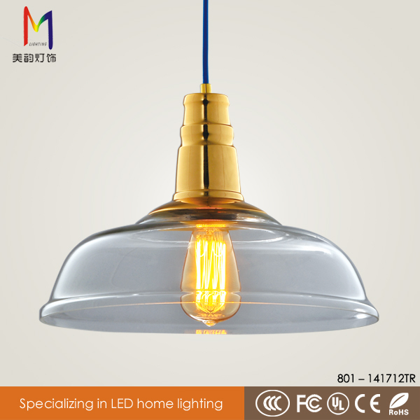 Modern Guangdong Screw Glass Lamp Shade E27 Pendant Lamp
