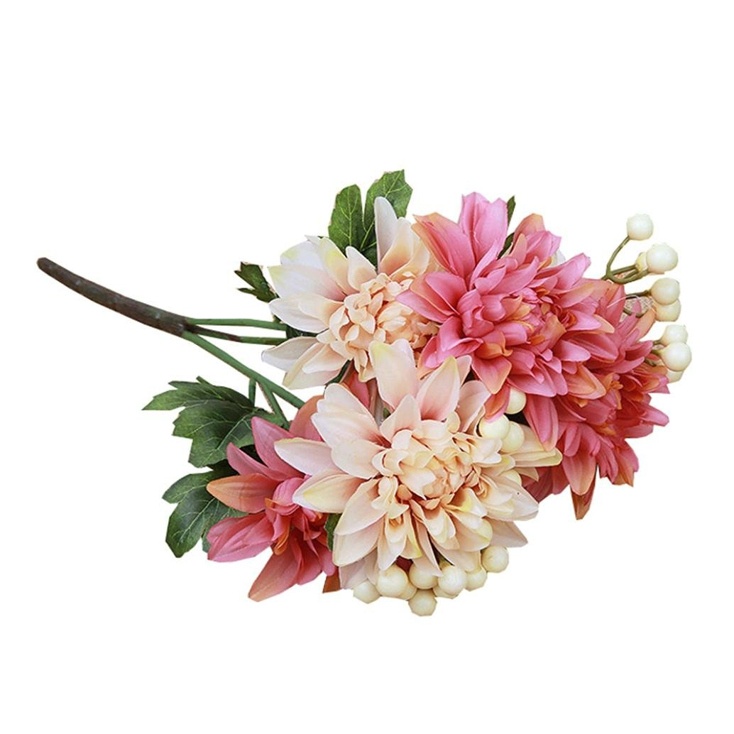 Buy Amatm 1 Bouquet 6 Heads Artificial Dahlia Fake Silk Flower