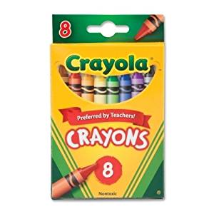 "Crayola Crayola Crayon Set, 3-5/8"" (2 Pieces) - Crayola Crayola Crayon Set, 3-5/8"", Permanent/Waterproof, 8/Bx, Assortedbright, Quality Crayola Crayons In Peggable Box Produce Brilliant, Even Colors."
