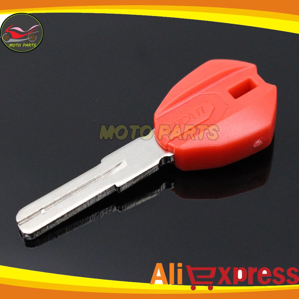 Новый красный мотоцикл мотоцикл замена зажигания пустые ключи для Ducati 696 600 748 848 999 1098 800 900 620 бесплатная доставка