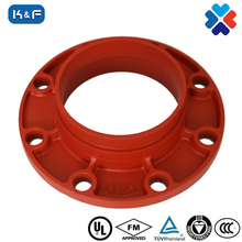 FM/ UL APPROVED ductile iron grooved pipe fittings Pipe flanged adaptor