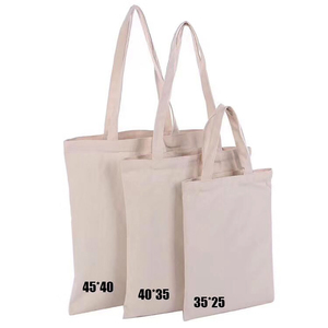 Book Bags with White Handles Small Canvas Shopper Tote Bag for packing