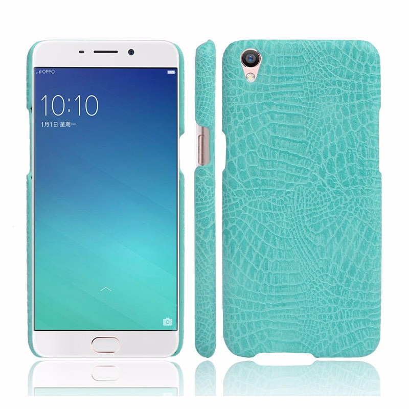 OEM crocodile pu hard cell phone back case cover for oppo f1 plus