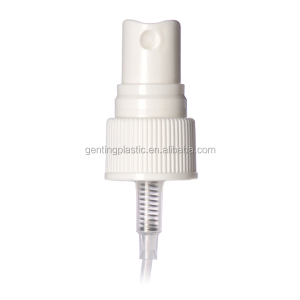 White plastic 20-410 ribbed skirt fine mist finger tip sprayer