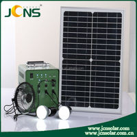High Efficiency Home Solar Kit 5W 4AH Solar Power Generator System With USB LED