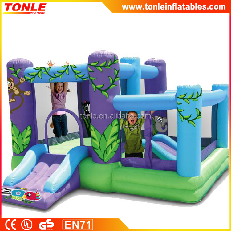 Zoo Park inflatable Bounce House with Balls/ inflatable jumping castle combo with slide