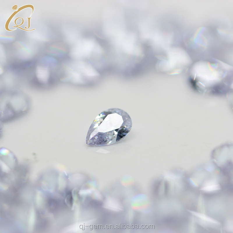 Promotion Price 4*5mm pear Cut CZ Stones,Sparkling CZ for Ring