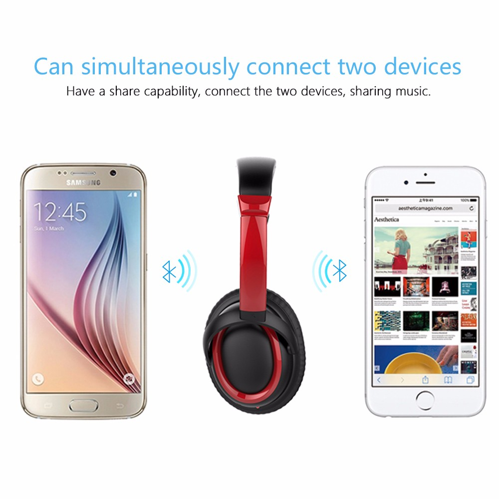 2018 Trending Products Waterproof wireless noise cancelling retro headphone