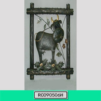 Beautiful Outdoor Iron Cow Wall Decor