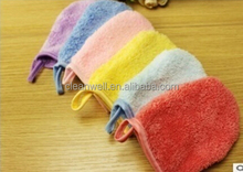 Coral fleece cleaning glove