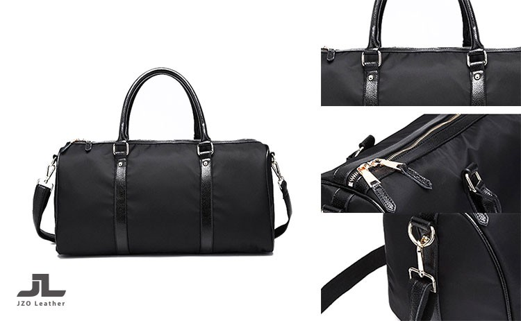 59a4018d9b0d Recycle Nylon Leather Men Sport Bag sports Travel Duffle Weekend Bag ...