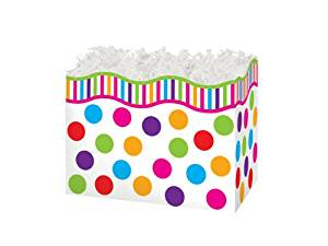"SMALL GUMBALLS Basket Boxes6-3/4x4x5"" (5 unit, 6 pack per unit.)"