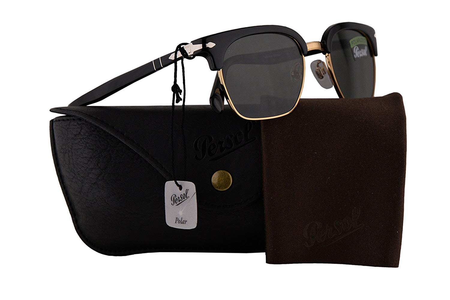 d308528a57 Get Quotations · Persol PO3199S Tailoring Edition Sunglasses Black w  Polarized Green Lens 50mm 9558 PO 3199-