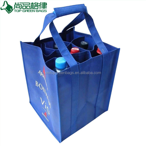 Customized printed non woven wholesale promotion beer bottles cloth wine bags