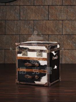 Antique Cow Fur Folding Storage Trunk Side Cabinet Buy