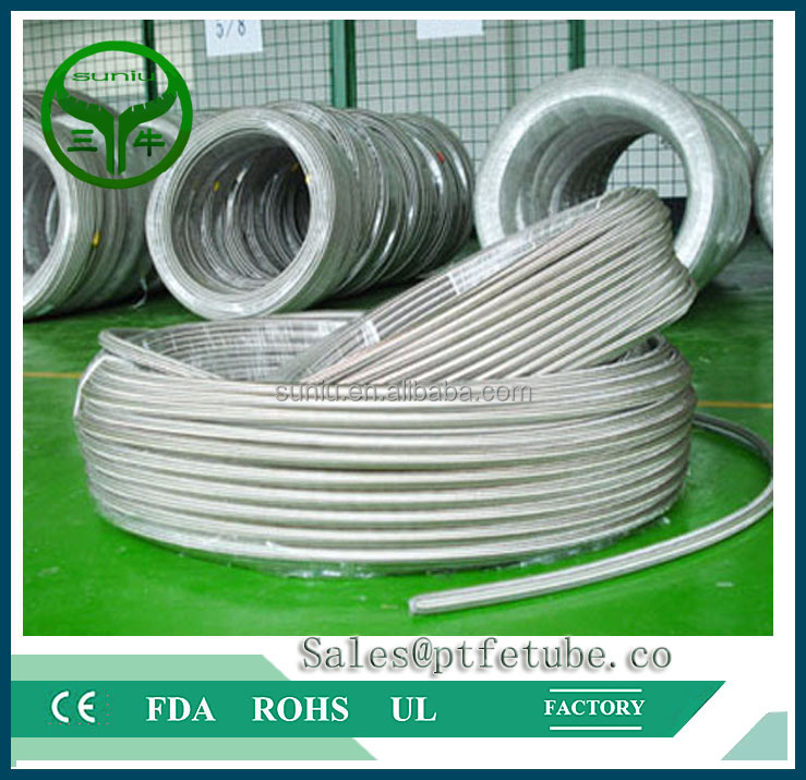 EPDM inner tube 304 stainless steel braided metal <strong>hose</strong> used for water suniu china