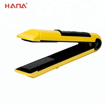 HANA LED display indicator ptc electronic heater usb rechargeable cordless hair straightener