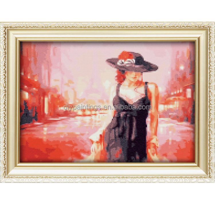 Sexy Woman wear hat Digital Diamond Painting For Wall Art
