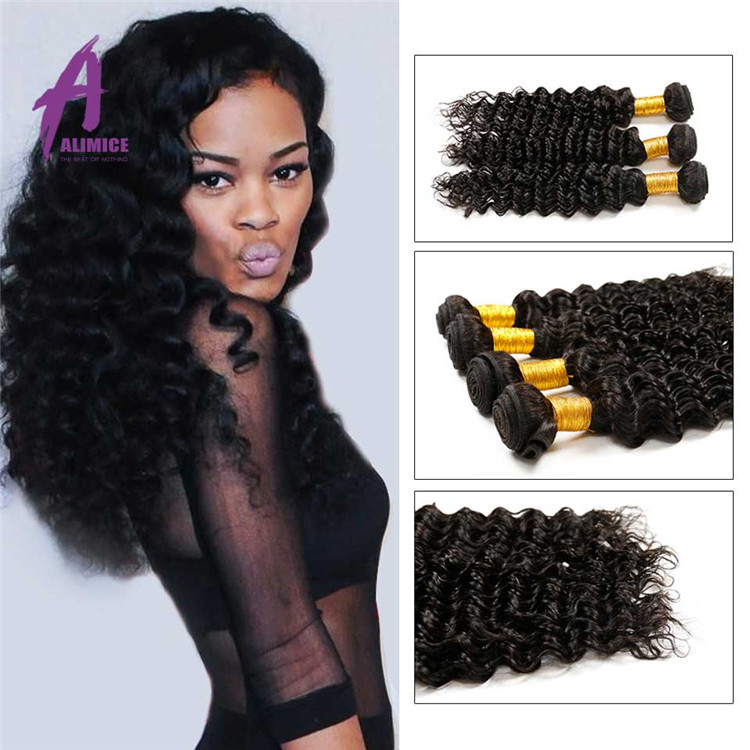 New Product Beautiful Girl Good Looking Xuchang 10 Inch Deep Wave Brazilian Hair