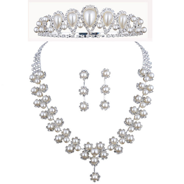 Cheap Pearl Necklace Sets: Cheap Fashion Pearls Bridesmaid Jewelry Set Necklace
