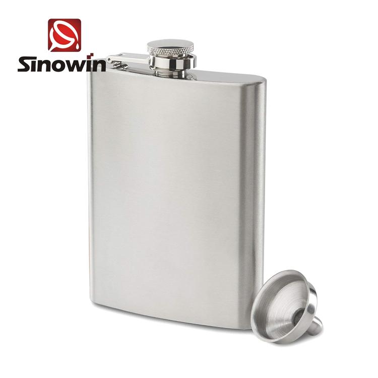6 オンス低価格カスタマイズ印刷ステンレス鋼のヒップフラスコとファンネルセット