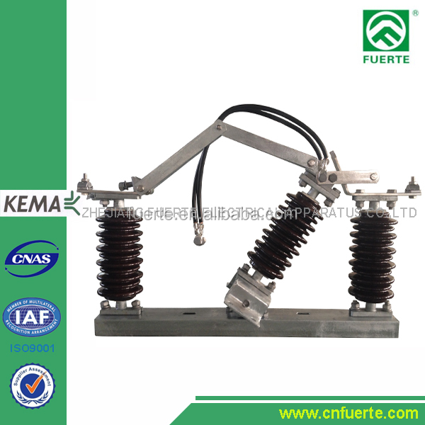 11KV medium voltage single pole 630A with porcelain insulators non load break isolator switch