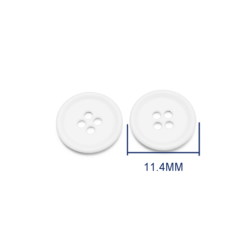 Wholesale High Quality 18L Round 4 Hole Metal White Sewing Button For Suit