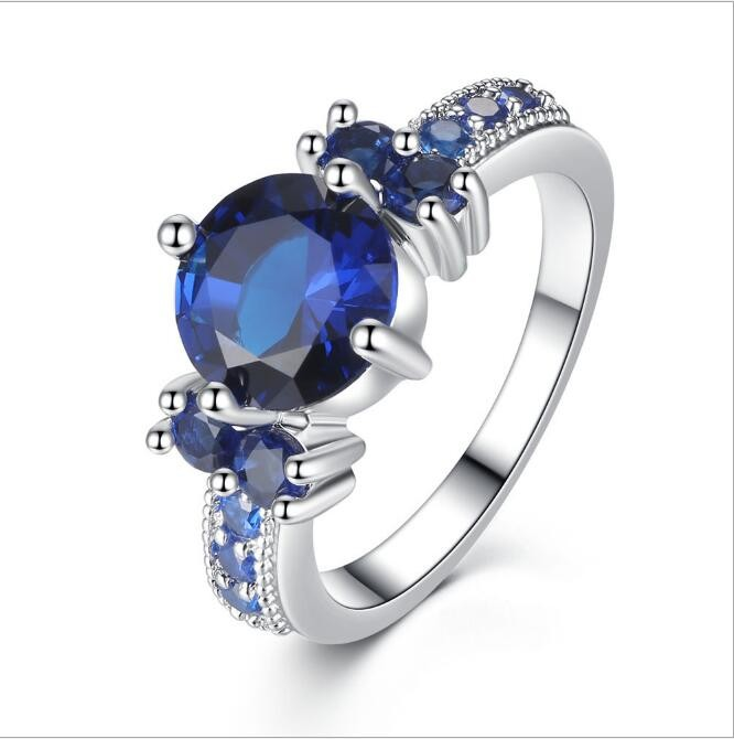 Wholesale 925 Jewelry white Gold Plated Silver Ring