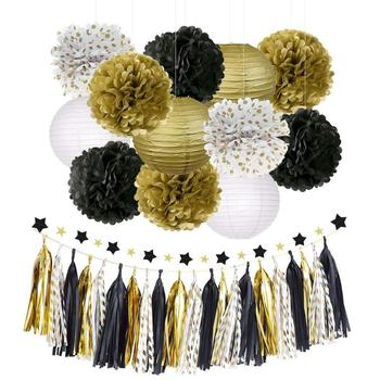 Amazon Top Seller 28pcs Black And Gold Party Decorations ...
