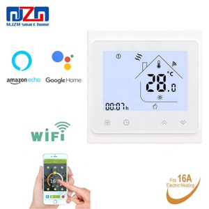 MJZM 16A-002-WiFi Thermostat Temperature Controller for Electric Heating Work with Alexa Google Home 16A Heated Floor Thermostat