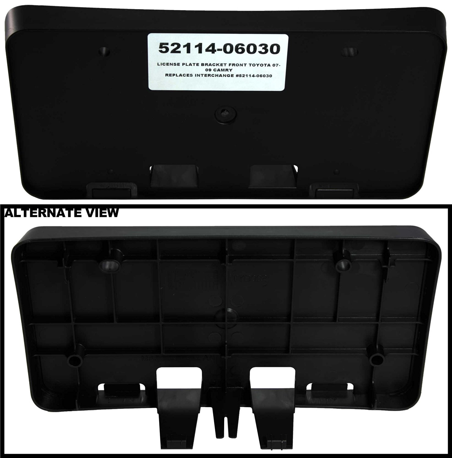 Replaces DS7Z17A385AA, DS7Z-17A385-AA APDTY 133675 License Plate Bracket Plastic Frame Holder Fits 2013-2016 Ford Fusion Front