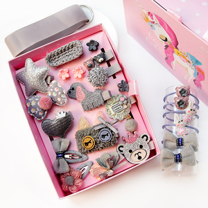Best selling 24pieces/Set Birthday Gift Korean Hair Accessories Set Baby Elastic Hair Ties with Ball