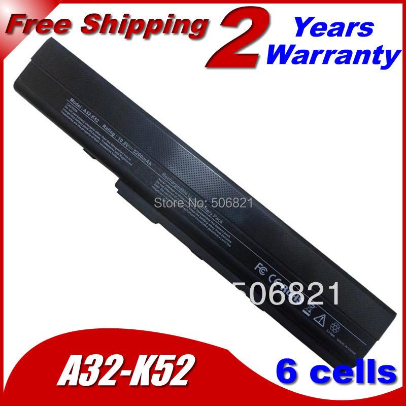 6 клетки замена аккумулятор ноутбука для Asus K42 K52 A31-K52 A32-K52 A41-K52 A42-K52 B53 A31-B53 11.1 В 5200 мАч