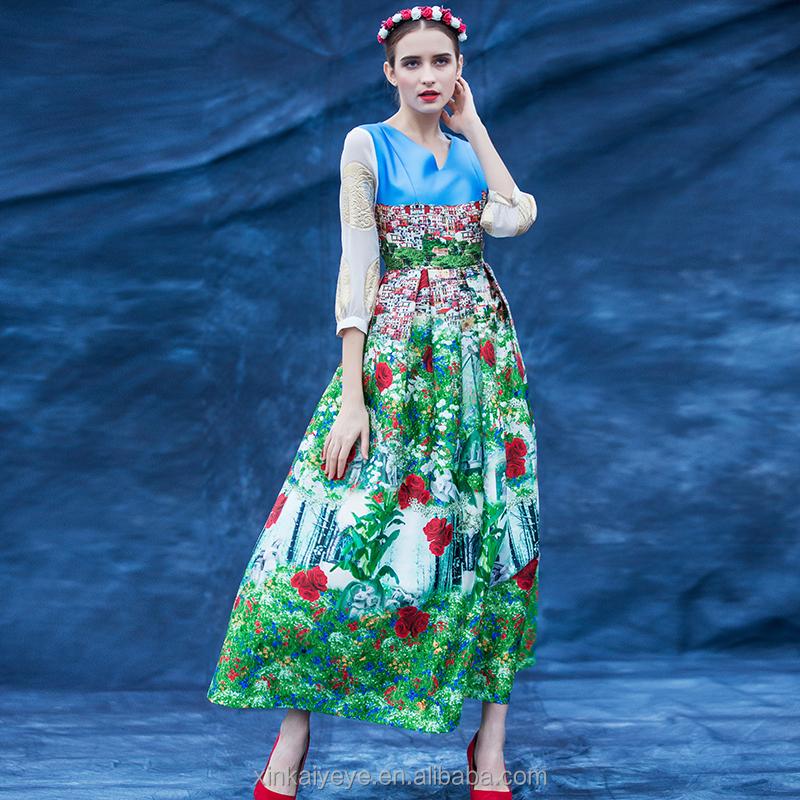Платья в русском стиле 2017