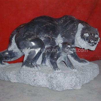 Garden Life Size Stone Bear Statue