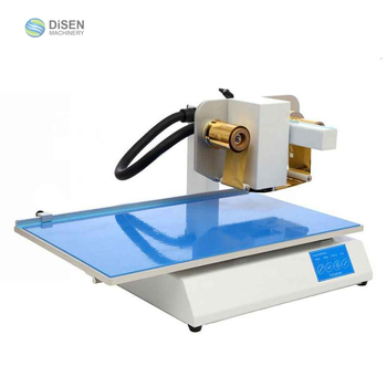 Leather hologram cigarette pack jewelry box logo digital hot foil stamping machine plastic bags